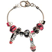 L&J Accessories High Heel and Lipstick Charm Bracelet