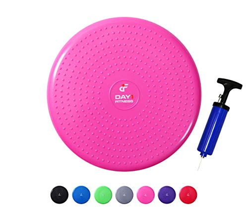 Inflatable Wobble Cushion with Pump by Day 1 Fitness - 13