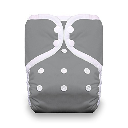 Thirsties One Size Pocket Diaper Snap, Fin by Thirsties