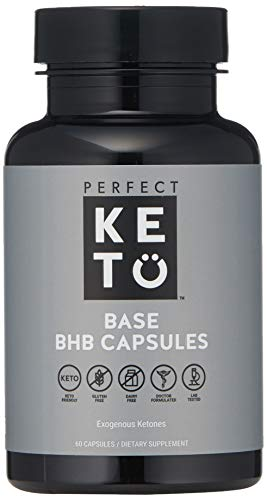 Perfect Keto Boost Pills | BHB Exogenous Capsules for Ketogenic Diet Best to Support Weight Management & Energy, Focus and Ketosis Beta-Hydroxybutyrate BHB Salt Pills (60 Count)