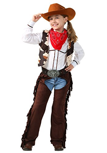 For Cowgirls Kids Costumes (Fun Costumes Cowgirl Chaps Costume Medium)