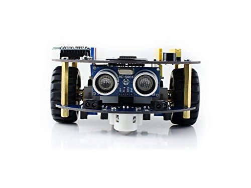 Contempo Views AlphaBot2 Robot Building kit for Arduino, with Controller UNO Plus,Including line Tracking, Obstacle Avoiding, Ultrasonic Ranging, Infrared Remote Control, Bluetooth Communication