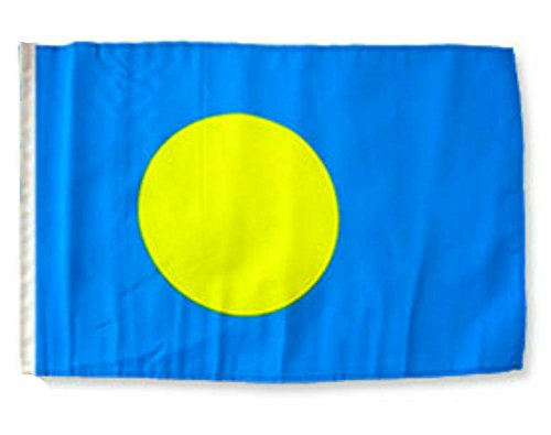 ALBATROS 12 inch x 18 inch Palau Sleeve Flag for use on Boat, Car, Garden for Home and Parades, Official Party, All Weather Indoors Outdoors