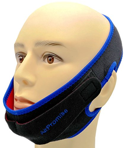 (Snoring Reduction Solution Chin Strap With Double Adjustable Connector for Better Sleep (Double Blue))