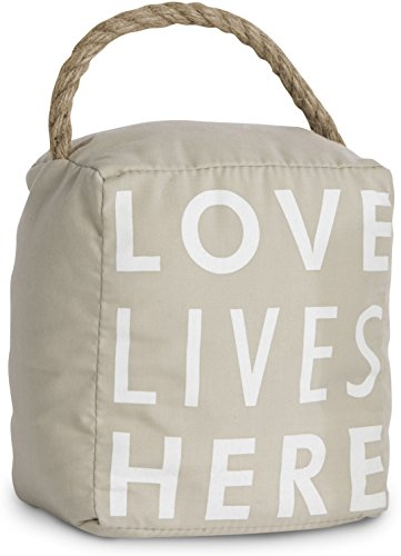 (Pavilion Gift Company 72153 Love Lives Here Door Stopper, 5 by 6-Inch)