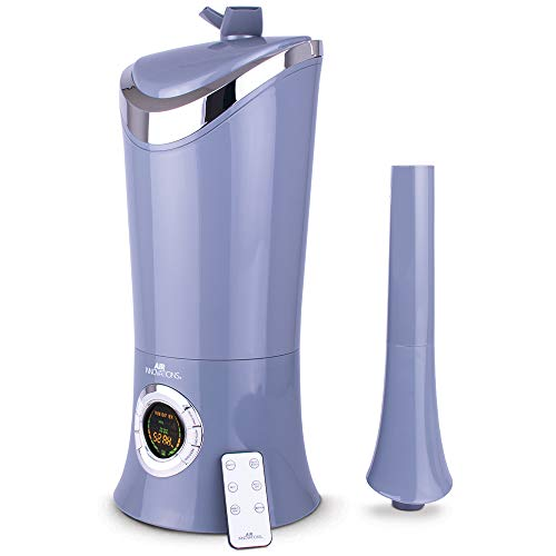 Air Innovations MH-701BA 1.7 Gal. Cool Mist Digital Humidifier for Large Rooms, Up to 600 sq. ft, with Remote-Platinum