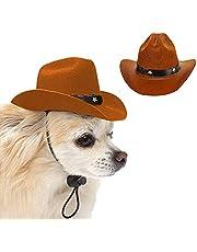 AWOCAN Pet Dog Cowboy Hat Cosplay Cap Puppy Pet Dog Cat Holiday Costume Pet Party Decoration