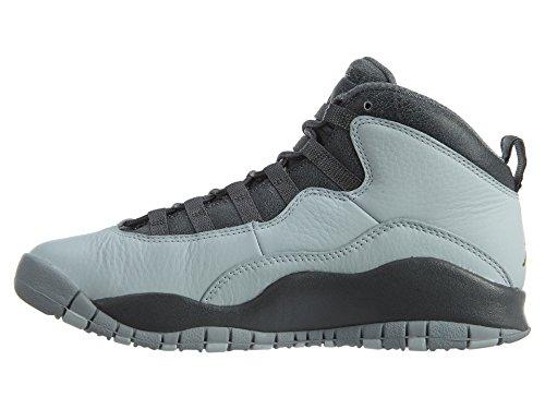 NIKE Air Jordan 10 Retro Big Kids Style Pure Platinum/Metallic Gold/Dark Grey/Cool d4633FI