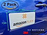 "(2 Pack) 3M Reflective""Amazon Flex"" 6"" X"