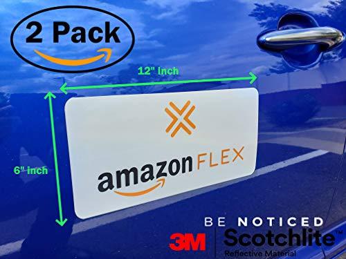 "(2 Pack) 3M Reflective""Amazon Flex"" 6"" X"