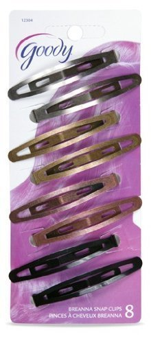 Goody Womens Classic Oval Metal Contour Clip 8 Count Item #