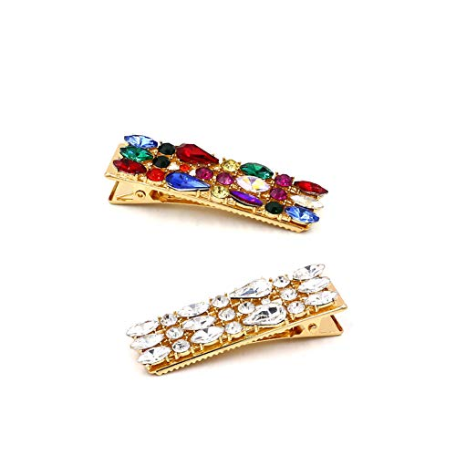 Gemstone Hair Pin - 2 Pack of Bejeweled Pinapple and Jewel Hair Pins Clips KELMALL COLLECTION