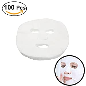 Frcolor 100 Pcs Enlarged Cotton Facial Mask Sheets DIY Cosmetic Face Skin Care Mask