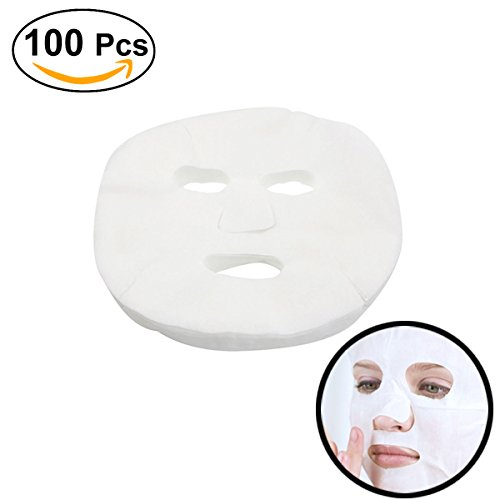 Frcolor 100 Pcs Enlarged Cotton Facial Mask Sheets DIY Cosmetic Face Skin Care (Face Masks Diy)