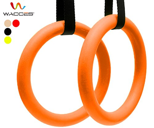 Wacces Exercise Fitness Gymnastic Rings (Orange) (Best Toronto Buy Store Hours)