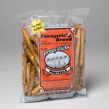 PRETZELS PENNYSTICK RODS 12 OZ NO SALT ADDED, Case Pack of - Gourmet Rods Pretzel