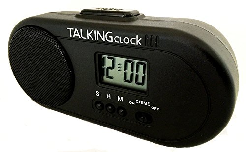 TALKING HUMAN VOICE ENGLISH SPEAKING BATTERY POWERED TRAVEL ALARM CLOCK. VERY LOUD, Very large 2.5