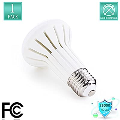 BR20 R20 LED Bulb, 5W (45W Equivalent), 2700K Warm White 500lumens,Non Dimmable Wide Flood Light Bulb, E26 Medium Base Bulb for Kitchen, Bathroom,Living Room,Bedrooms, Outdoor Fixtures