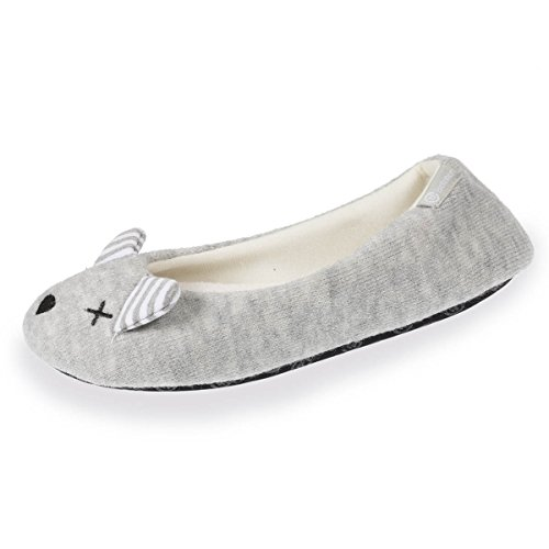 ballerines Chaussons femme souris Gris souris ballerines Chaussons OZq5RUxEw