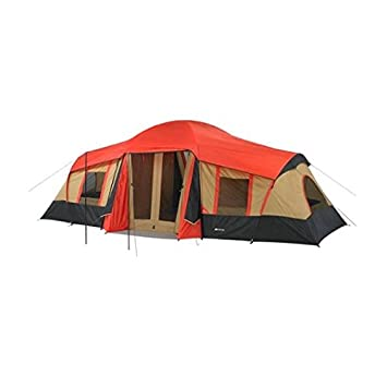 Ozark Trail 10-Person 3-Room Cabin Tent w/ Front Porch  sc 1 st  Amazon.com & Amazon.com : Ozark Trail 10-Person 3-Room Cabin Tent w/ Front ...