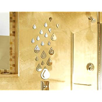 Amazon.com: 3D Wall Stickers NYKKOLA Water Drop Raindrop Modern ...