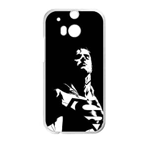 HTC One M8 Cell Phone Case White Superman Dark Background JSK872265