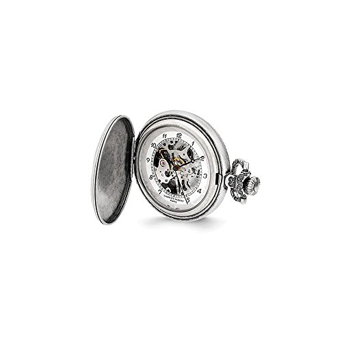 Charles Hubert Antiqued Oval Design Pocket Watch ()