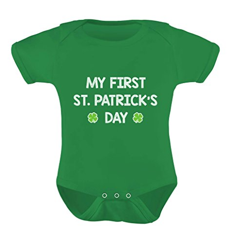 TeeStars - My First St. Patrick's Day - Cute Infant Irish Clover Baby Bodysuit 18M (St Patricks Day Clothing Ideas)