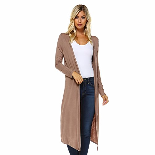 646187f946ca0 Issac Liev Isaac Liev Trendy Extra Long Duster Soft Cardigan ...