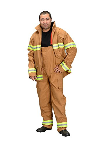 Aeromax Adult Fire Fighter Los Angeles Suit, Large, Tan