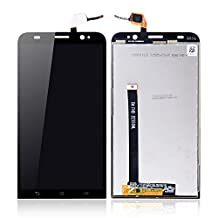 Greleaves LCD Digitizer Assembly - Touch Screen Glass Panel+LCD Display Panel Replacement with Tools for Asus Zenfone 2 ZE551ML (Black) by Greleaves