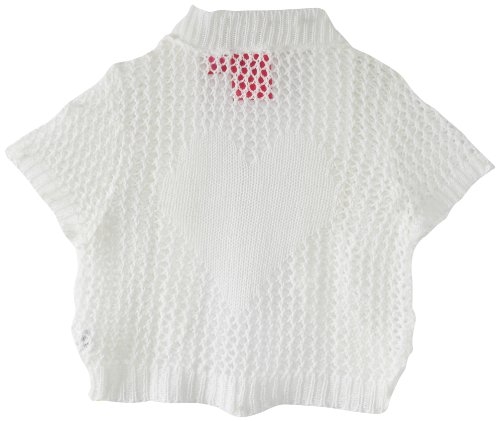 Derek Heart Girl Girls 7-16 Shrug with Mesh Back Body with Motif