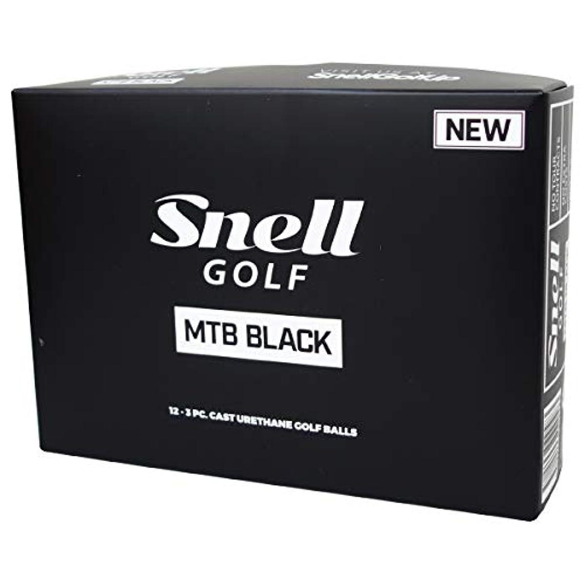 [해외] SNELL GOLF 스넬 골프공 MTB BLACK 12구 화이트