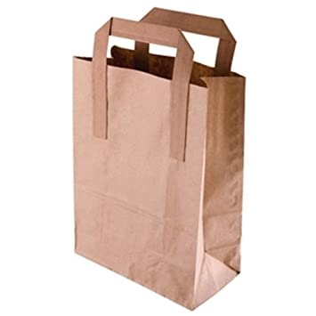 Amazon.com: Grandes de Brown Reciclado bolsas de papel ...