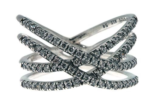 PANDORA Cosmic Lines Ring, Sterling Silver And Clear Cz, Size 6 US, 196401CZ-52