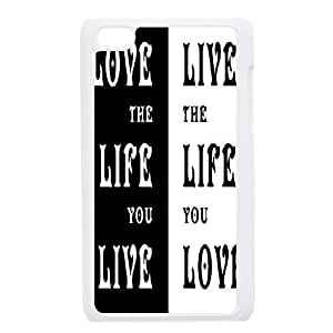 Live the Life You Love Phone Case for Ipod Touch 4,diy Live the Life You Love phone case