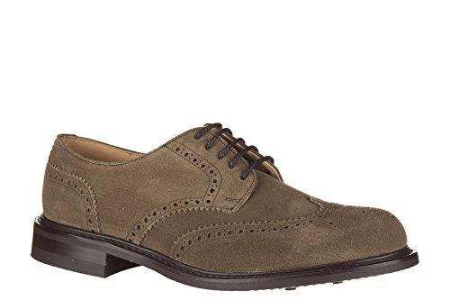 Church's scarpe stringate classiche uomo in camoscio newark brogue marrone