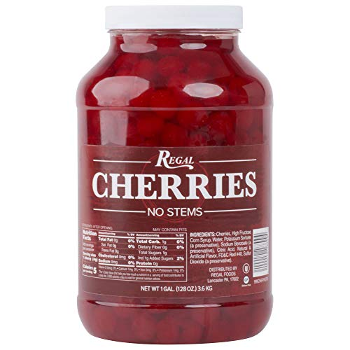 Regal Maraschino Cherries Without Stems - 1 Gallon