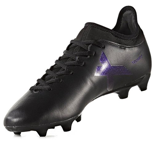 adidas Mens X 17.3 FG Soccer Athletic Cleats Black 9.5 ()