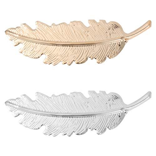LEORX Horquillas pelo delicado Clip Pin garra accesorios broches tocado estilo joyeria del pelo -2pcs