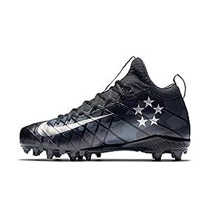Nike Men's Alpha Field General Elite Camo Football Cleat (12.5 D(M) US, Black/Grey/Silver)