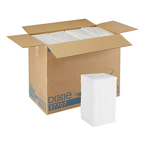 Dixie 1/4-Fold 1-Ply Luncheon Napkin (Previously Acclaim) by GP PRO (Georgia-Pacific), White, 37707, 500 Napkins Per Pack, 12 Packs Per Case (Pacific Luncheon Napkins)