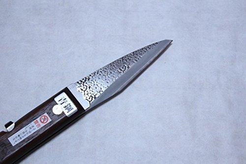 Kiridashi Knife Japanese Grafting Folding Woodworking Aogami Yasuki Blue 2 Steel Fujiwara Blade Width 27mm by Fujiwara Japanese knife