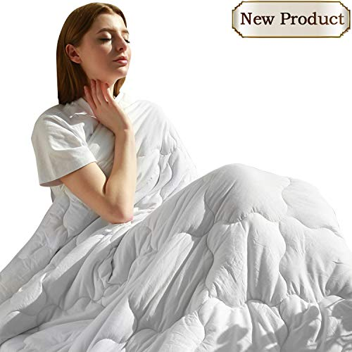 Cheap MAXIJIN Modern Weighted Blankets 20 lbs for 180-220lb Adult 100% Cotton Queen Size Heavy Blanket for Sleeping(60