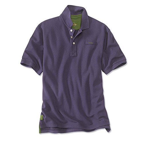 Men's The Orvis Signature Polo / Tall, Purple, Medium