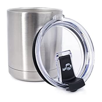 Amazon com | RTIC Stainless Steel Lowball with Lid 12oz