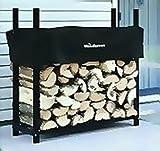 3' Firewood Rack - 1/8 Cord Capacity (Black) (3'H x 3'W x 10''D)