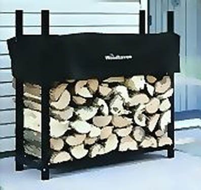 3' Firewood Rack - 1/8 Cord Capacity (Black) (3'H x 3'W x 10''D) by Alexander Mfg Co