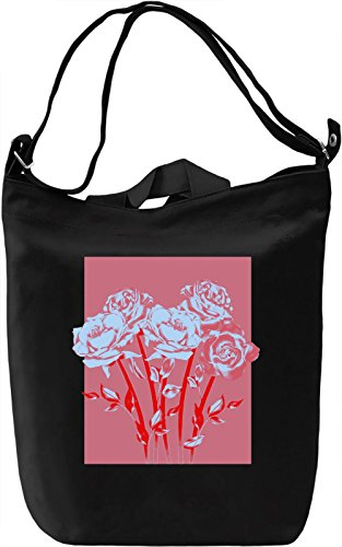 Pop Art Roses Borsa Giornaliera Canvas Canvas Day Bag| 100% Premium Cotton Canvas| DTG Printing|