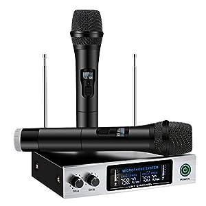 UHF Wireless Microphone System, ELEGIANT Dual...